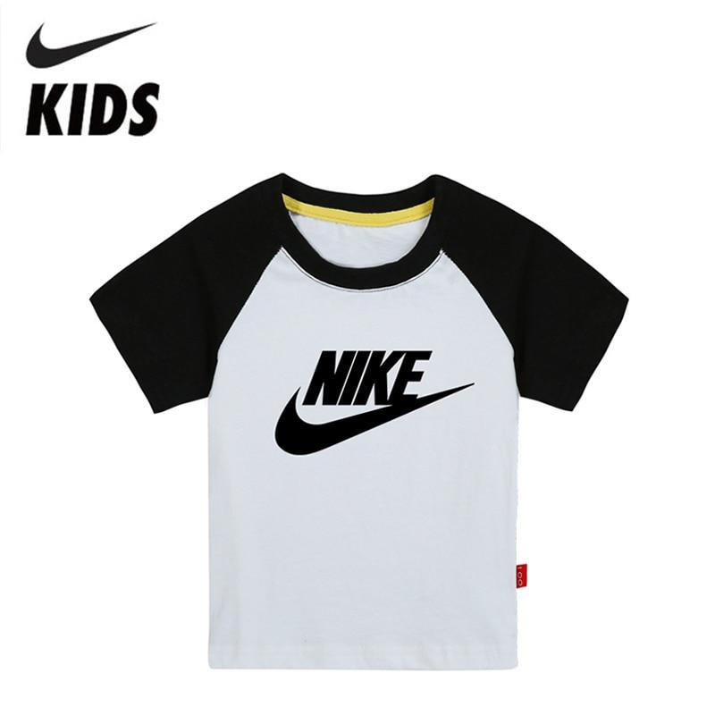 Nike Short Sleeve Children T-Shirt Cotton Boys Shirt Casual Kids Clothing For Kids 2Y-10Y