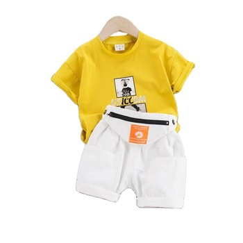Children Fashion Clothes New Summer Baby Girls Boys Cotton T-Shirt Shorts 2Pcs/Set Toddler Casual Costume Kids Cartoon Tracksuit baby boy girls clothes set summer cartoon printed t shirt tops shorts 2pcs toddler kids costume cotton boys clothing suit 0 7y