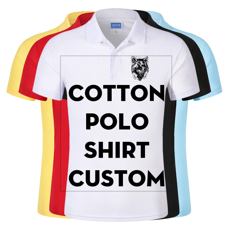 Cheap Custom Polo Shirt Printed With Your Design Logo For Group Team School Men Cotton Casual Breathable Shirt Tops Tees Aliexpress