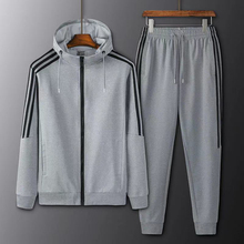 Sweater Two-Piece-Suit Sports-Suit Running-Sportswear Casual New Autumn And Spring Men