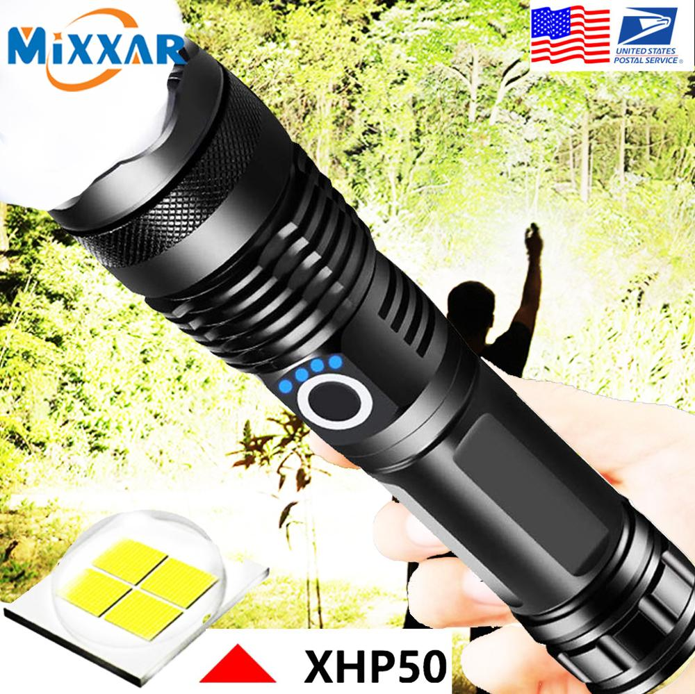 EZK90 Dropshipping LED Flashlight XHP50 Tactical Flashlights USB Rechargeable Waterproof Zoomable 18650 26650 Torch|led rechargeable torch|rechargeable torchflashlight 18650 battery - AliExpress