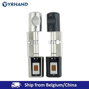 Image 1 - Cerradura de puerta inteligente con cilindro electrónico, pequeña cerradura de puerta con cilindro Digital, con Bluetooth, para el hogar