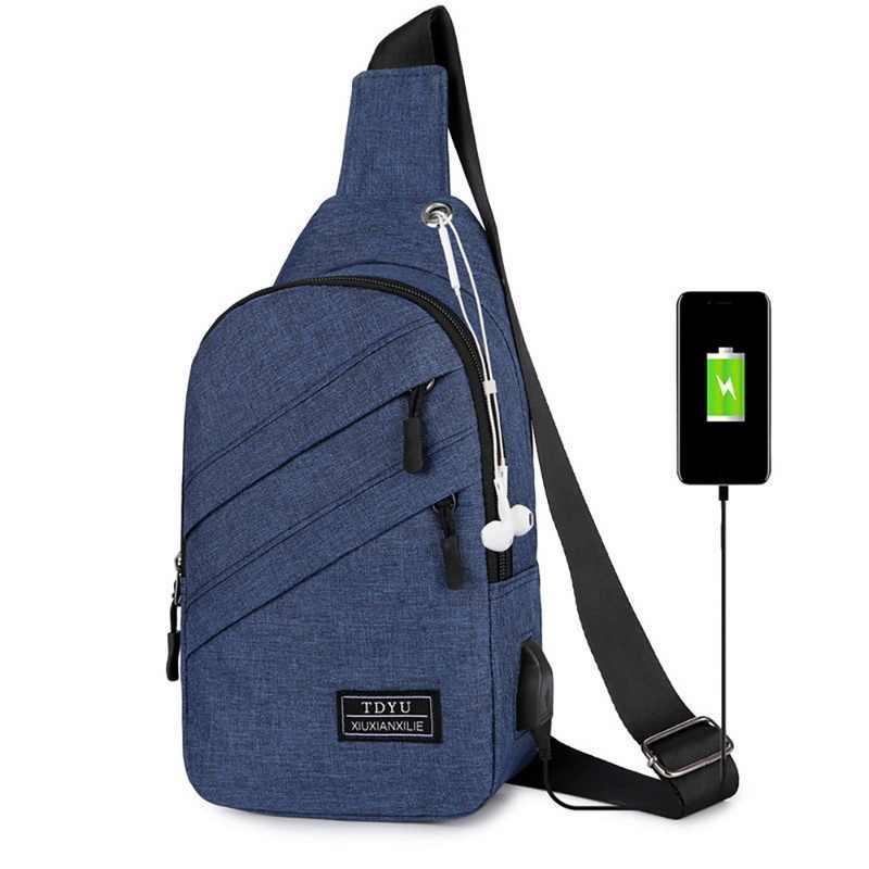 Jodimitty bolsa de cintura masculina de couro, mochila transversal sólida com zíper