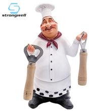 Strongwell Europe Chef Model Ornaments Cute Resin Crafts Creative Hotel Deskstop Home Decoration Accessories Birthday Gift