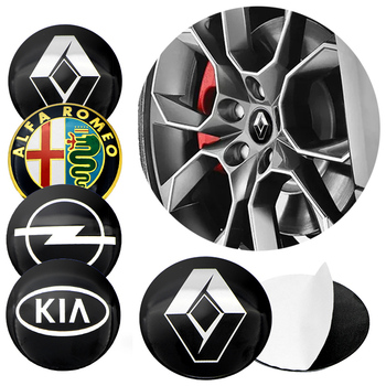 1pcs 56mm Tire Wheel Center Hub Caps Sticker for BMWs Audis VWs Volkswagens Benzs Fords Toyotas Hondas Peugeots Mazdas Hyundais image
