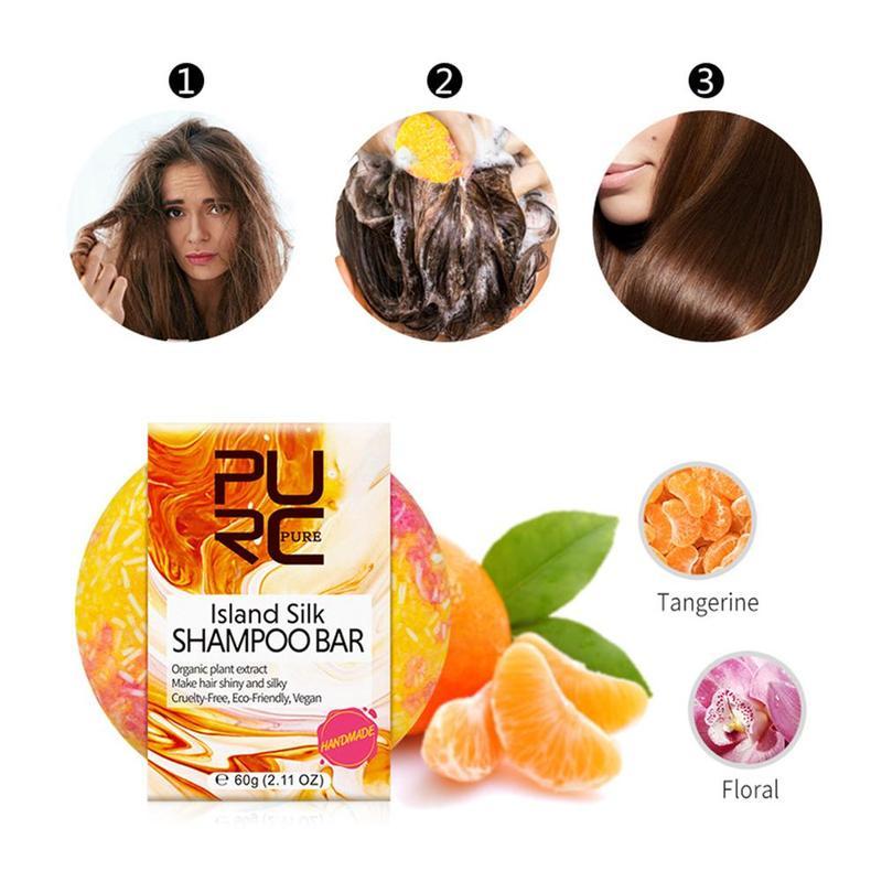PURC Silicone Free Oil Handmade Shampoo Soap Hydrating For Dry Hair Repair Organic Plant Extract Hair Shampoo Bar 6 Flavors
