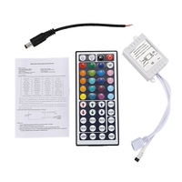 New 44 keys Wireless IR Remote control with receiver for 5050 3528 RGB SMD LED strip light|LED Strips|   -