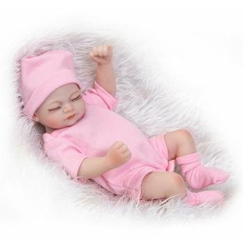 Reborn Baby Girl Doll Alive Bebe Full Body Vinyl 11'' Silicone Sleeping Kid Gift Silicone Reborn Baby Dolls