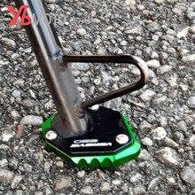 צד Stand להגדיל Kickstand עבור KAWASAKI VERSYS650 VERSYS 650 2015 2020 2019 אופנוע אביזרי Sidestand רגל Enlarger