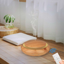 Essential Oil Diffuser 150ml Shallow Wooden-Grain Ultrasonic Aromatherapy Difusor Aromaterapia With Remote Control