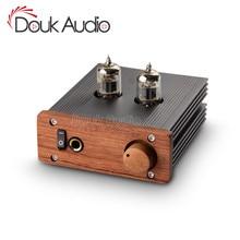 Douk אודיו מיני כיתה המוארקת 6J1 צינור אוזניות מגבר HiFi סטריאו אודיו מראש מגבר
