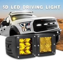 DERI 5D 3inch led work light 12W 3000K amber driving light Flood Spot Beam lamp Fog Lights For Jeep Boat Off Road ATV UTV SUV