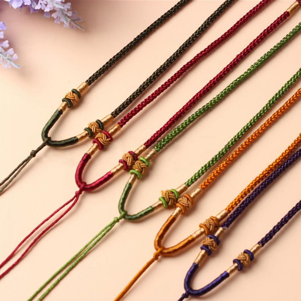 New 2 Pcs Crystal Pendant Rope Hand-knitted Cord Pendant Rope Necklace Pendant jewelry Accessories New Arrival