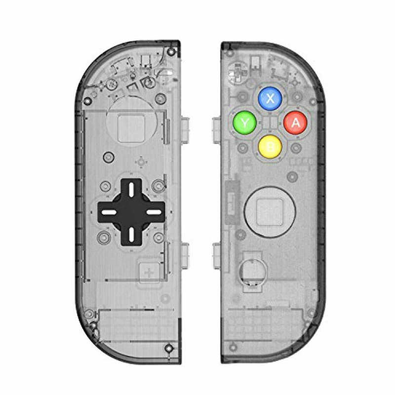 Para Joycon izquierda y derecha controlador de mano funda carcasa con botón d-pad para Nintendo Switch carcasa de repuesto