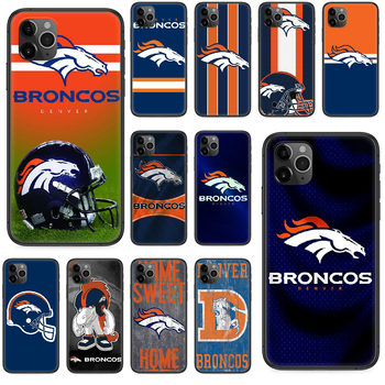 Denver Bronco American Football Phone case For iphone 4 4s 5 5S SE 5C 6 6S 7 8 plus X XS XR 11 PRO MAX 2020 black shell 3D image