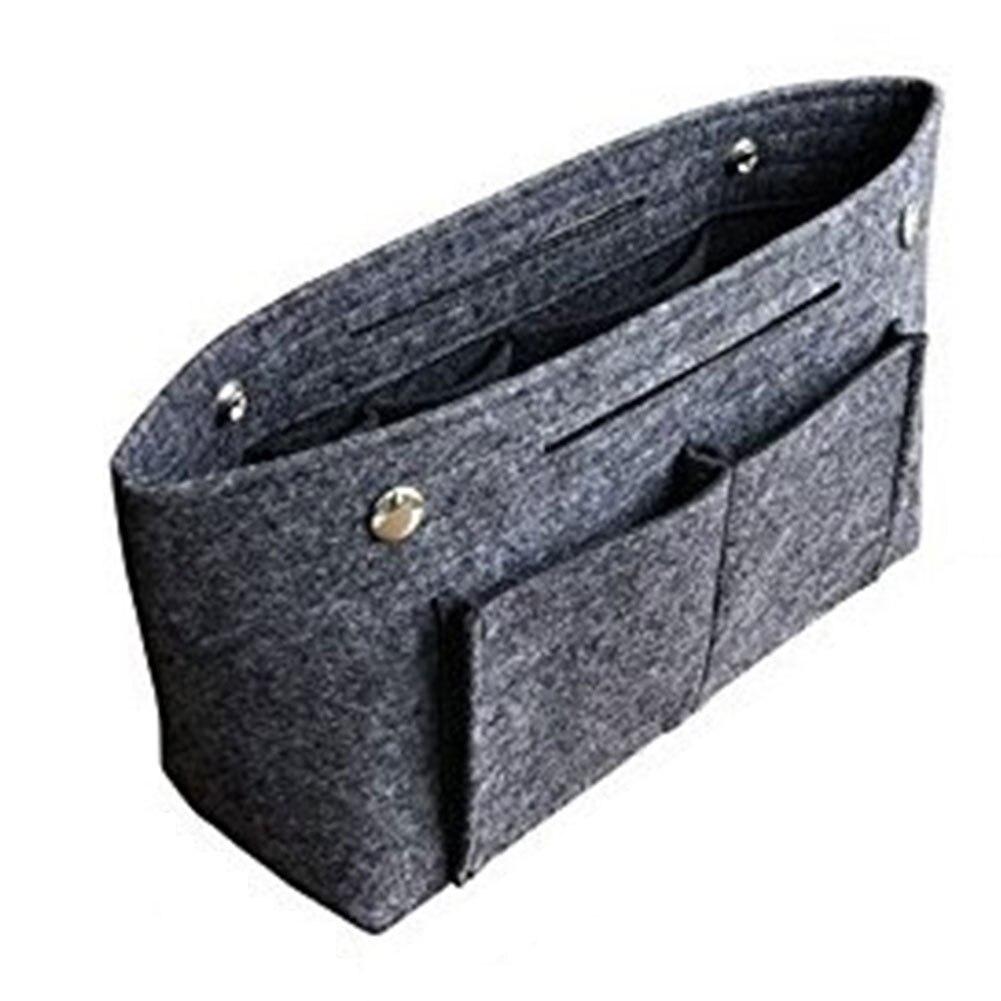 Women Insert Bag Foldabled Durable MultiPocket Useful Bag Easy Storage Handbag Felt Portable Organizer Bag
