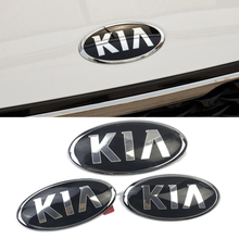 Для логотип KIA K2 K3 KX3 K4 K5 Cerato KIA Ceed Рио Форте Sportage Sorento Picanto ABS Авто решетка Передняя Автомобильная эмблема задний багажник Стикеры