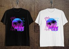 New Miami Vice Logo 80'S Retro Tv Show Men'S T-Shirt Black And White B ?Latest New Style Tee Shirt(China)
