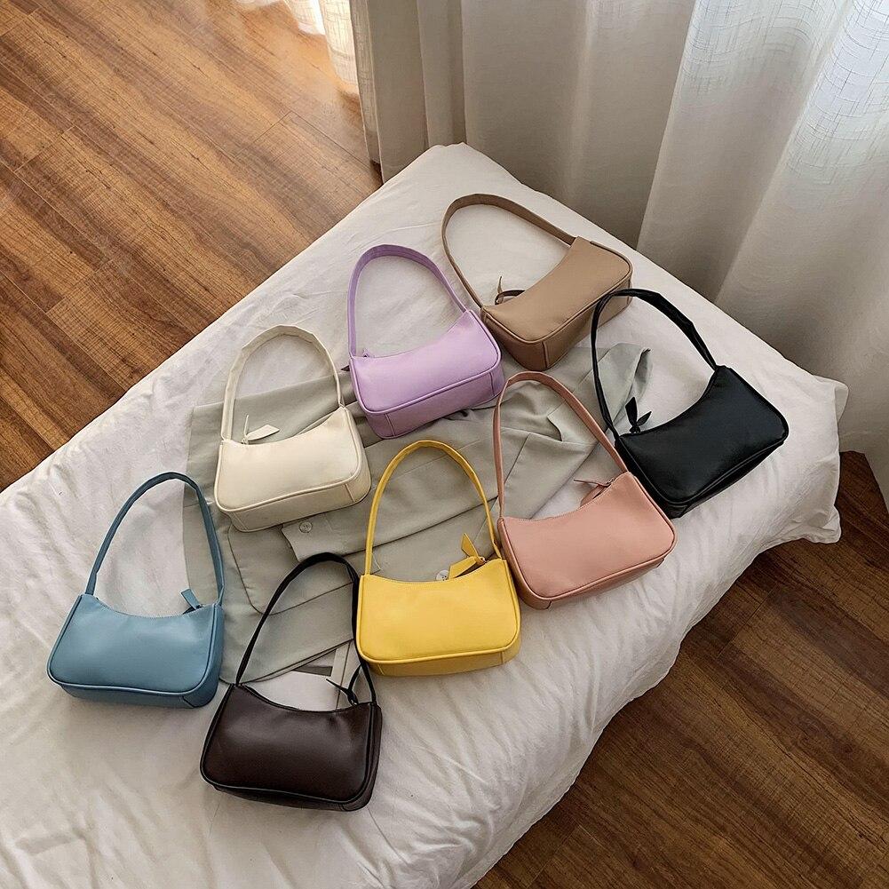 Retro Shoulder Bag Vintage Handbag Hobos Bag for Women PU Leather Female Baguette Bag Subaxillary Mini Bolsa Bolsa Feminina2020 6