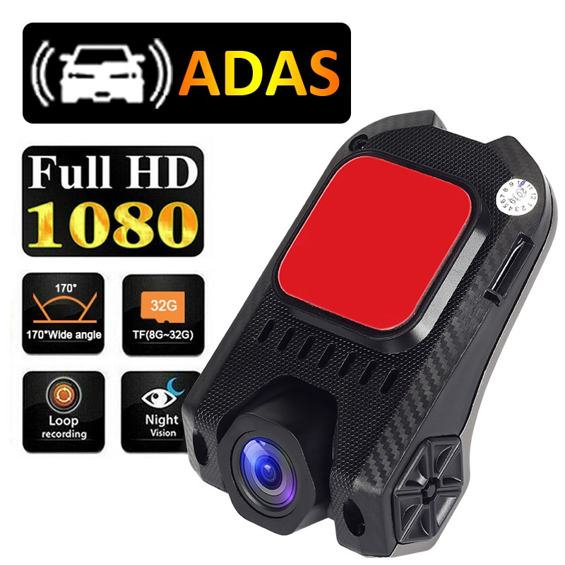 Andorid USB Car DVR Dash Camera ADAS 1080P Full HD Driving Recorder Night Vision Loop Recording G-sensor 170° Wide Angle Dashcam(China)