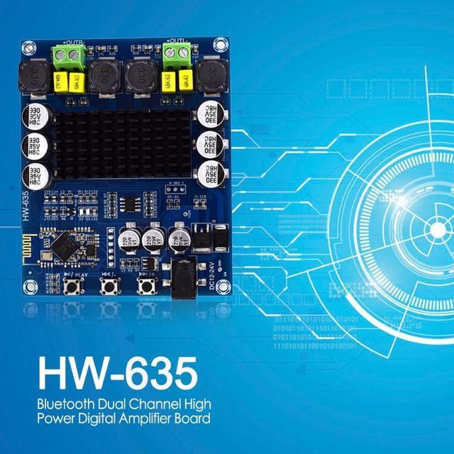 120Wx2 TPA3116D2 Bluetooth Dual Channel High Power Digital Amplifier Board Stereo Speaker Amplifier