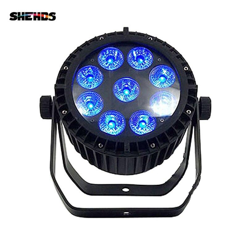 1/2 Uds impermeable 9x18W RGBWA lavado + + + 6in1 luz Par LED IP65 Control DMX Luz de escenario de DJ Disco OutdoorPerformance equipo fiesta