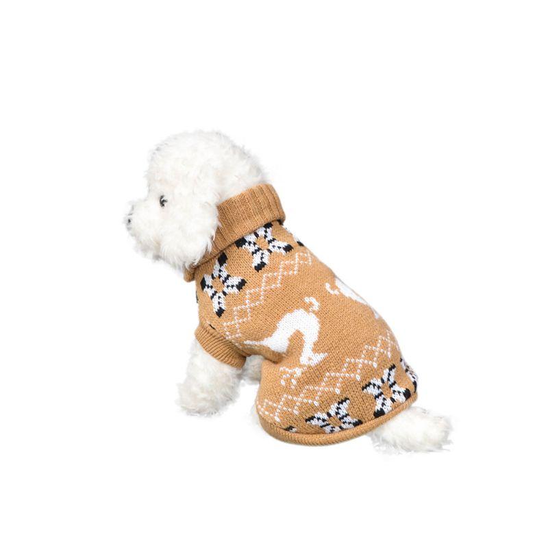 Рождественская Милая Одежда для собак с лосем, вязаный свитер, теплая дышащая одежда для собак, толстый зимний свитер для собак, Свитера с оленем - Цвет: Yellow