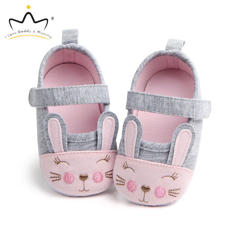 Cotton Cute Rabbit Ears Baby Shoes Soft Soled Non-slip Toddler Shoes For Girls Spring Summer Baby Girl Shoes