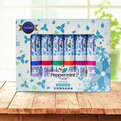 Thailand Mint Cylinder Nasal Inhaler Refresh Brain Anti Fatigue Cure Stuffy Nose Rhinitis Nasal Aspirator refreshing dizziness
