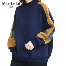 Max LuLu European Style Winter Clothes Fashion Womens Fur Warm Casual Loose Hoodies Ladies Vintage Punk Sweatshirts Plus Size
