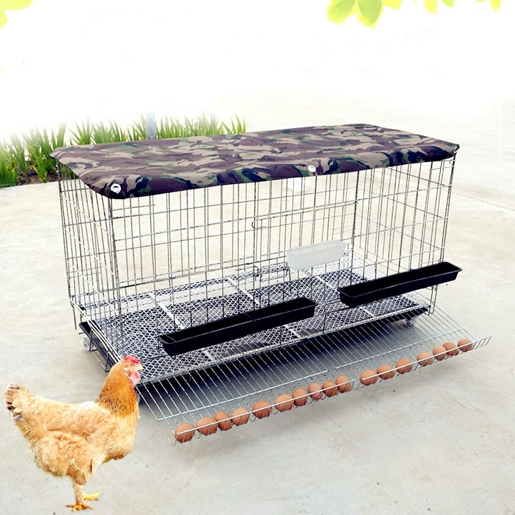 Chicken Cage Chicken Cage Home Egg Cage Culture Cage Folding Chicken Cage Chicken And Duck Automatic Rolling Egg Cage