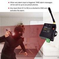 GA09 الباب SMS العالمي نافذة مجسات GSM تنبيه إنذار لاسلكي البسيطة وحدة التطبيق المنزل الأمن 8 قناة هوائي مكالمة عن