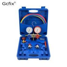 Coletor conjunto manômetro ferramenta de diagnóstico r134a r22 r410a r404a para ac automático ar condicionado gás refrigerante