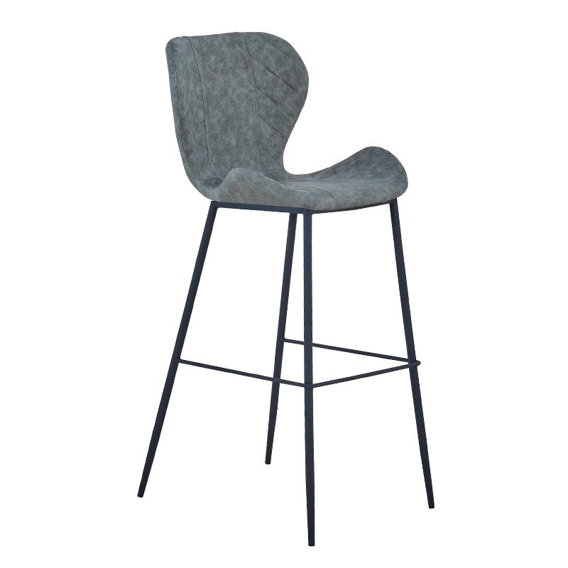 European Style Iron Bar Chair Modern Simple  High Stool Back   Front Desk Cash Register   Household