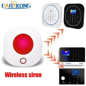 Image 4 - Wifi 433MHz kablosuz Strobe Siren ses ve ışık sireni 100dB için G50 W123 PG103 PG168 ev güvenlik WIFI GSM alarm paneli sistemi