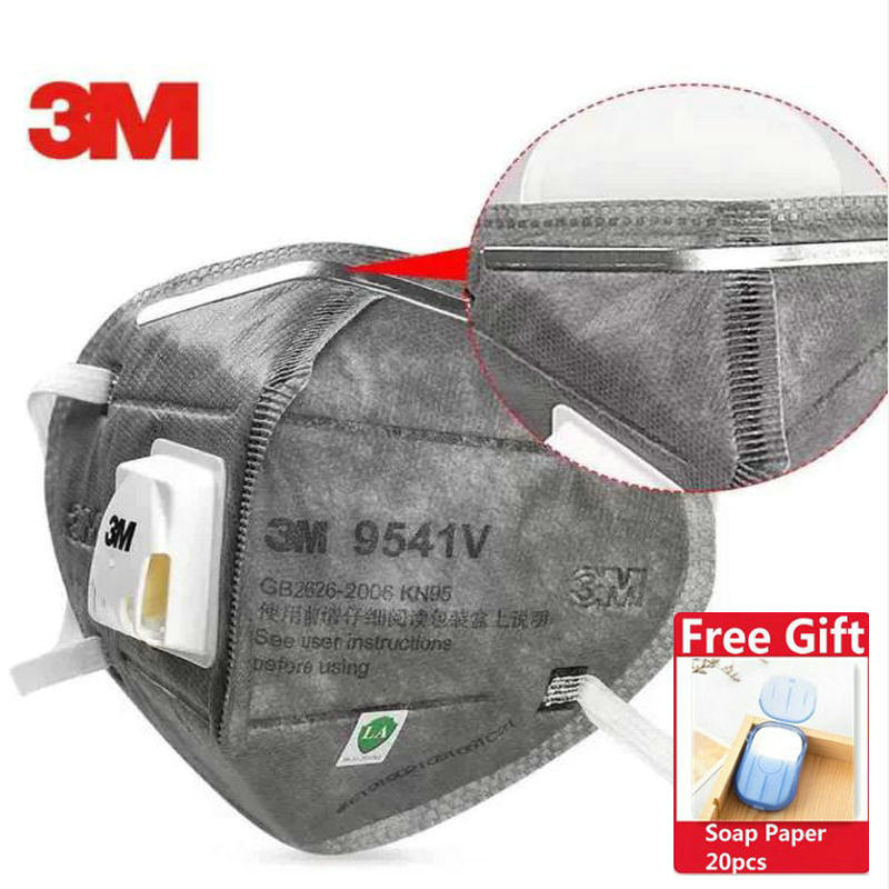 20pcs 3M FFP3 9541V Dust Mask Aura Respirator Protective Mask Anti-PM2.5 Filter Oily Non-oily Particulates Haze Weather