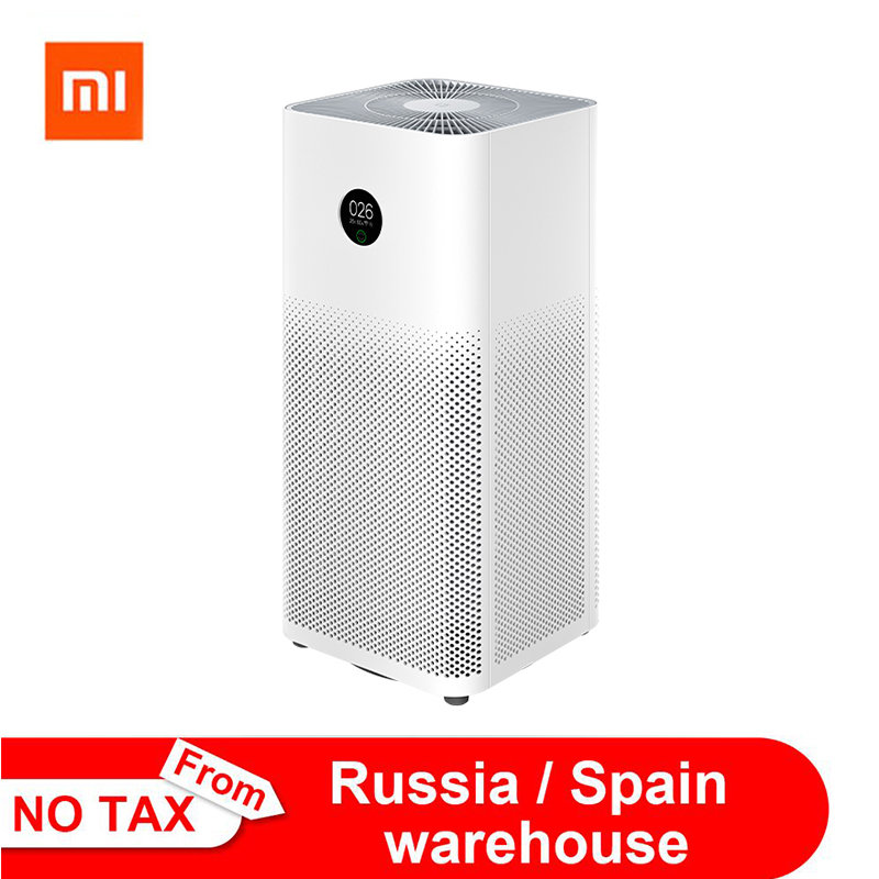Xiaomi Air Purifier 3 3H Filter Mi Air Cleaner Fresh Ozone home auto Smoke formaldehyde sterilizer Cube Smart MIJIA APP Control|Air Purifiers|   - AliExpress