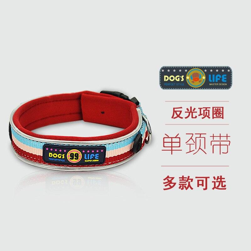 Wheelock Color Single Neck Band Small Large Dog Reflective Color Dog Collar