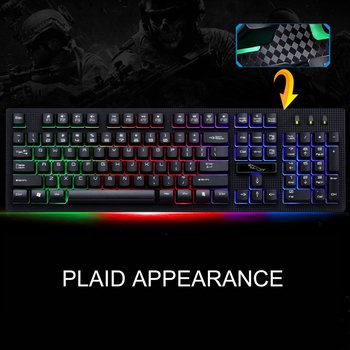 Wired Gaming Keyboard  USB Backlight Gaming Keyboard Ergonomic Comfortable 114 Keys Keyboard For PC Laptop For Pro Gamer 4