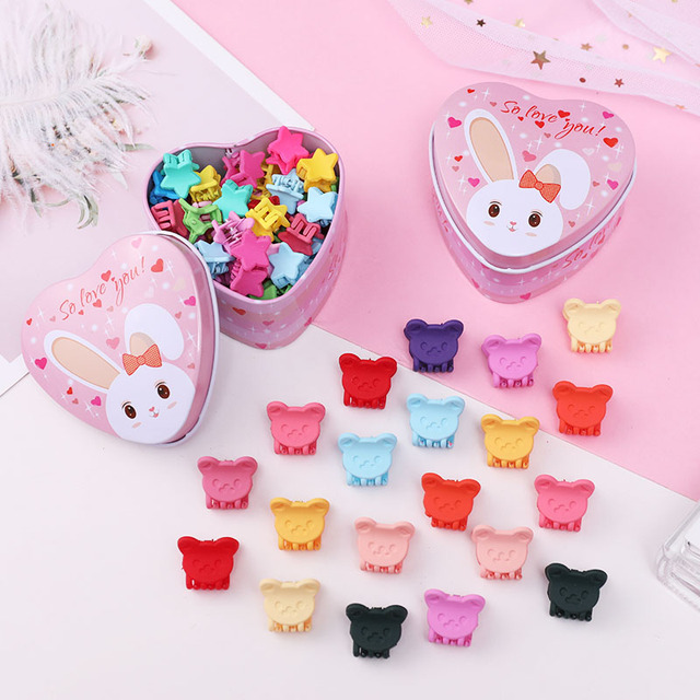 Girl's Candy Colors Mini Hair Claws 15 Pcs Set 5