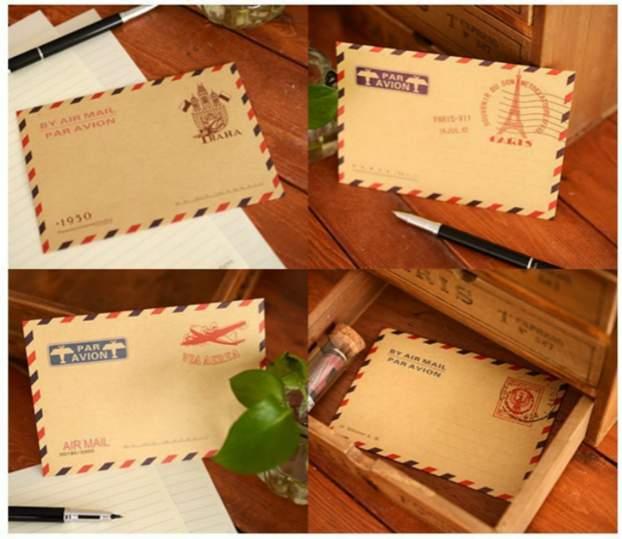 10 Pcs/lot Mini Retro Vintage Paris Kraft Paper Envelope Fashion Cute Kawaii Korean Stationery For Cards Birthday Holiday Gift