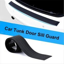 90cm/104cm bagażnik samochodowy z tyłu farby osłona zabezpieczająca płyty gumowe tylny zderzak samochodowy wykończenia Anti chroniąca przed zarysowaniami taśma naklejana czarny na