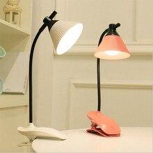 Настольная светодиодсветодиодный лампа с зажимом, флексографская USB аккумуляторная Настольная лампа с сенсорным управлением, трехскорост...