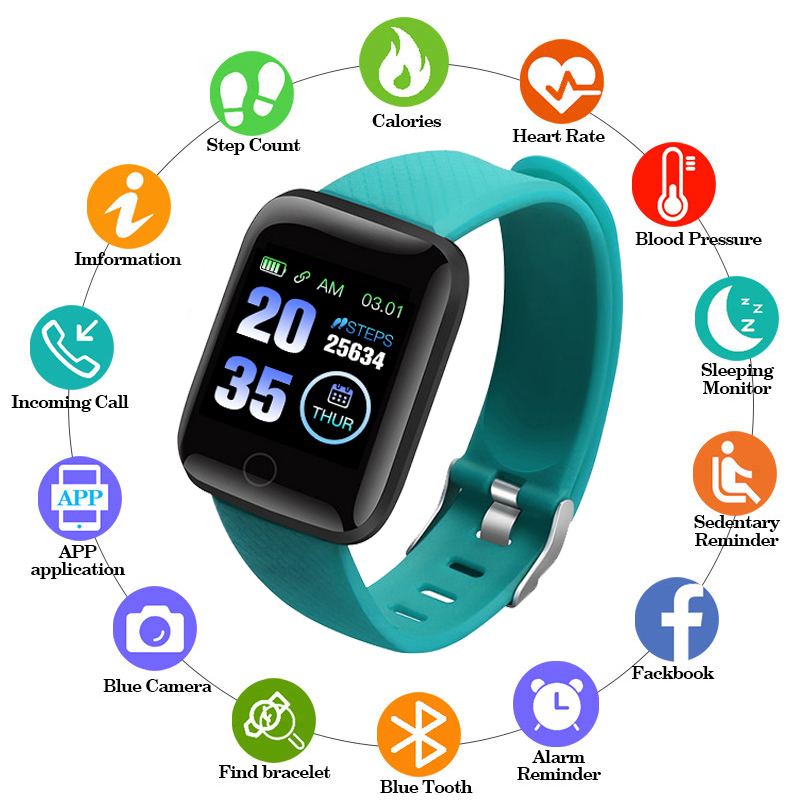 Smart Bracelets Fitness Health Fitness Watches Heart Rate Monitor Blood Pressure Monitor For Ios Android Iphone Sports Clock