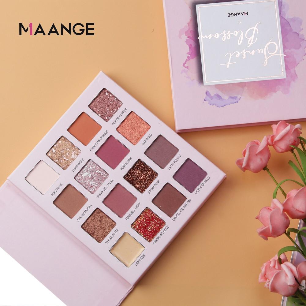 16 цветов, мерцающие блестящие тени для век, порошок, матовые тени для век, косметика, роскошный макияж, brochas maquillaje beauty pinceaux maquillage