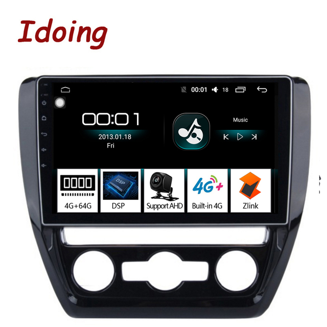 "Idoing 10.2""4G+64G Octa Core Car Android Radio Vedio Multimedia Player Fit VOLKSWAGE 2011 2015 2.5D IPS DSP GPS Navigation"