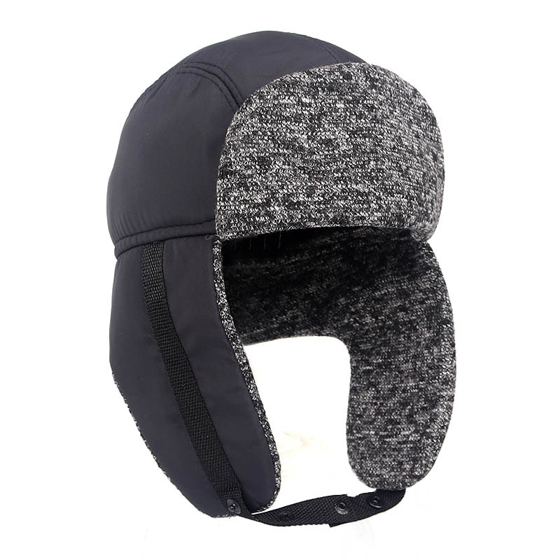 Men's Winter Hat Thicker Velvet Men's Warm Bomber Hats Outdoor Ear Protection Beanie Mask Cap