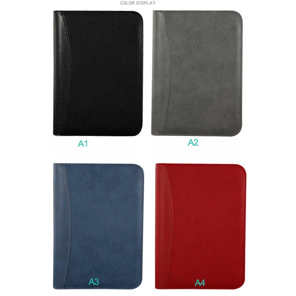 Ежедневный А5 блокнот из искусственной кожи с калькулятором, спиральный персональный ежедневник, органайзер, блокнот для путешествий, папка для менеджеров