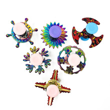 Hot Selling spinnob Colorful Fingertip Rotating Bounce Spinner between Your Figure Spiral Pressure Reduction Toy