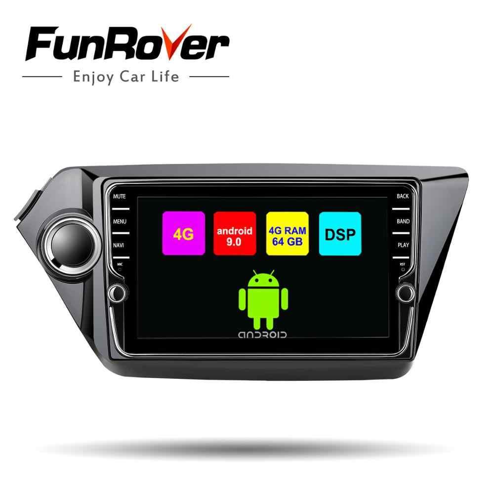 Funrover android 9 0 2 din автомобильный dvd мультимедийный плеер для Kia k2 rio 2011 2016